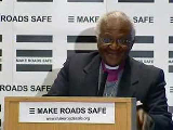 Desmond Tutu Speaking at the Make Roads Safe Africa Launch