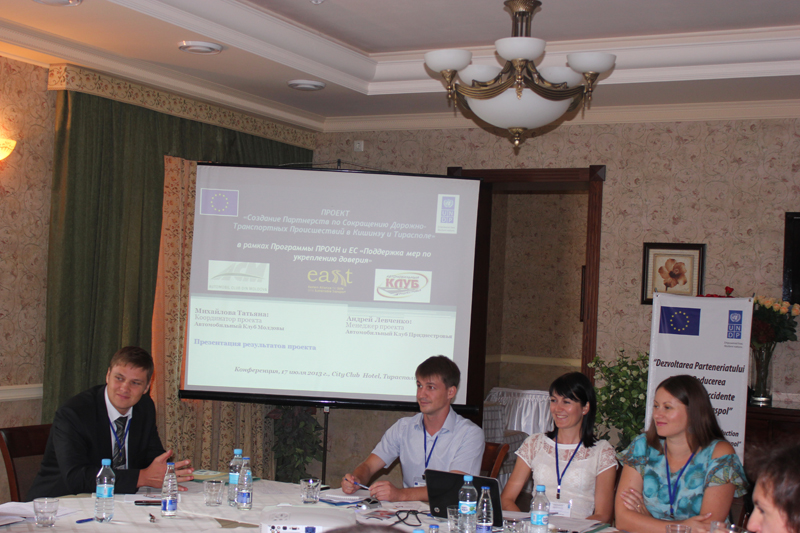 Development of casualty reduction Partnerships in Chisinau and Tiraspol